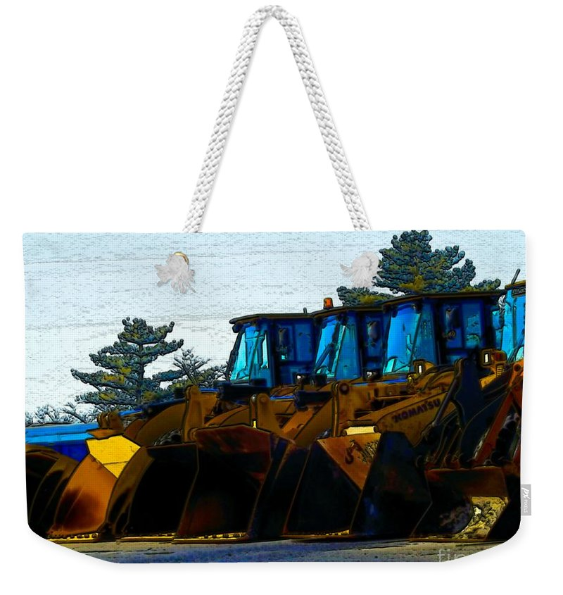 Plows Weekender Tote Bag featuring the photograph Walk The Line by Robyn King