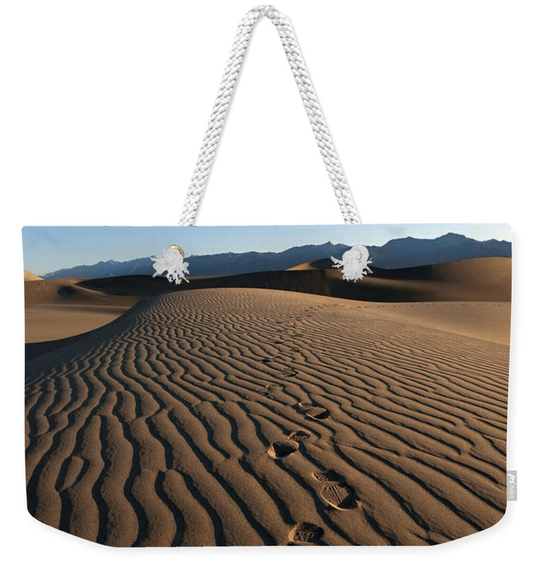 Dunes Weekender Tote Bag featuring the photograph Walk This Way. No. This Way. by Joe Schofield