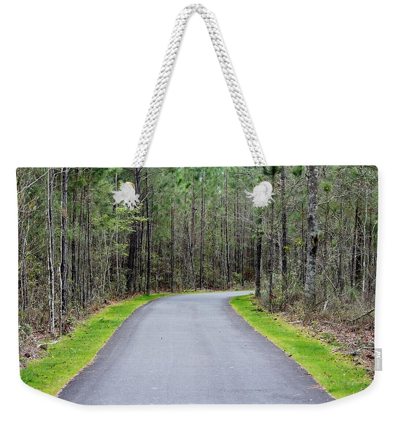 Walk Weekender Tote Bag featuring the photograph Walk Through The Forest by Cynthia Guinn