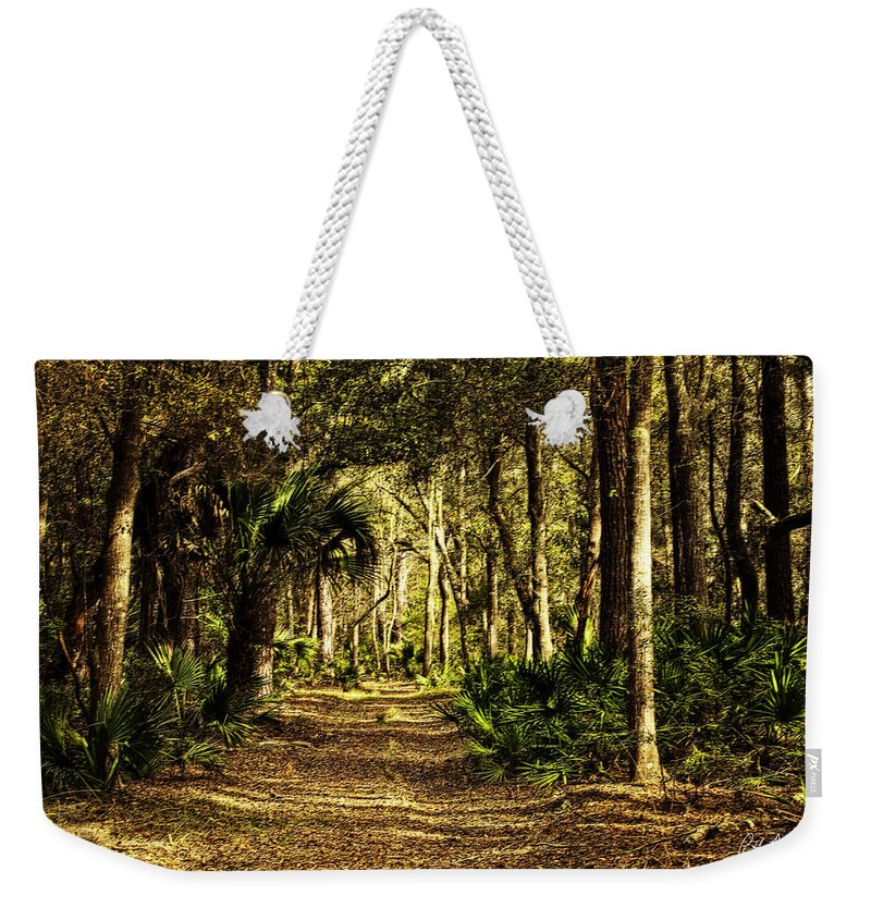 Victoria Bluff Weekender Tote Bag featuring the digital art Walking The Bluff Artistic by Phill Doherty
