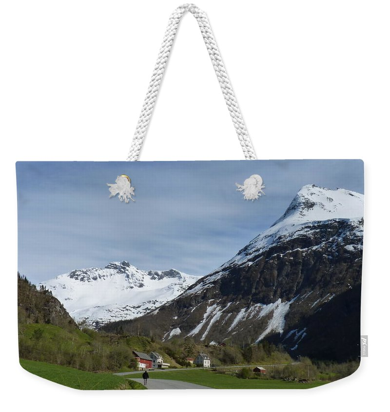 Weekender Tote Bag featuring the photograph Walking Toward The Sky by Katerina Naumenko