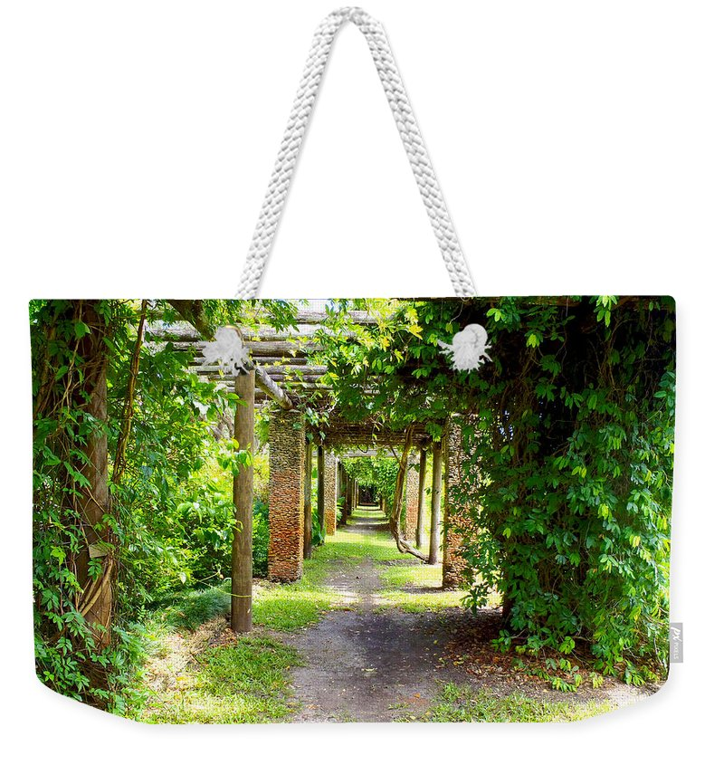 Walkway Weekender Tote Bag featuring the photograph Walkway by Carey Chen