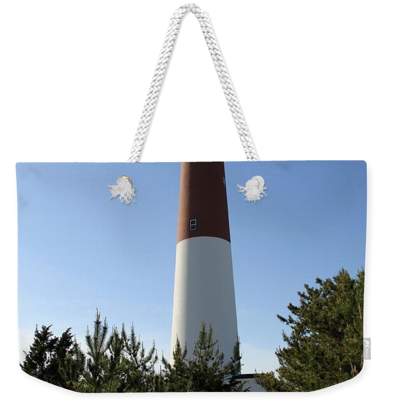 Barnegat Lighthouse Weekender Tote Bag featuring the photograph Walkway To Barnegat Light by Christiane Schulze Art And Photography