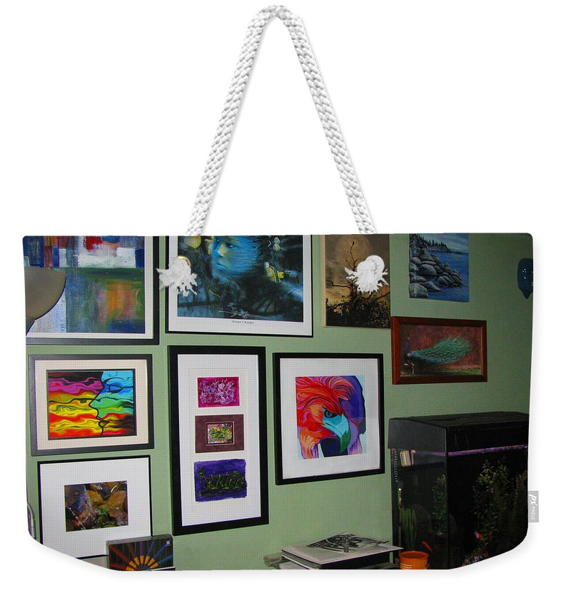 None Weekender Tote Bag featuring the photograph Wall Of Framed by Peter Piatt