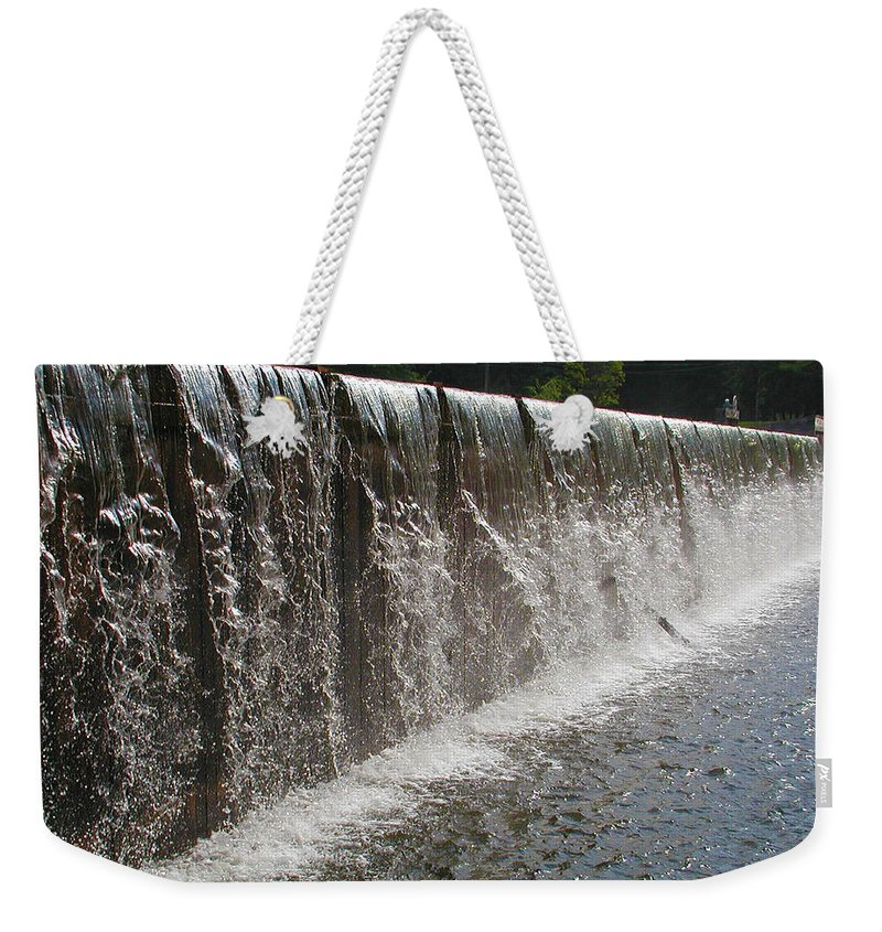 Wall Of Water Weekender Tote Bag featuring the photograph Wall Of Water by Bill Cannon