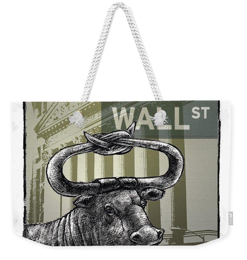 Wall Street Weekender Tote Bag featuring the digital art Wall Street by Chris Van Es