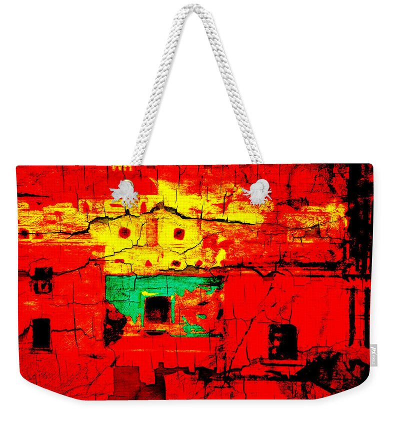 Wall Weekender Tote Bag featuring the photograph Walls Of Oaxaca by Terry Fiala