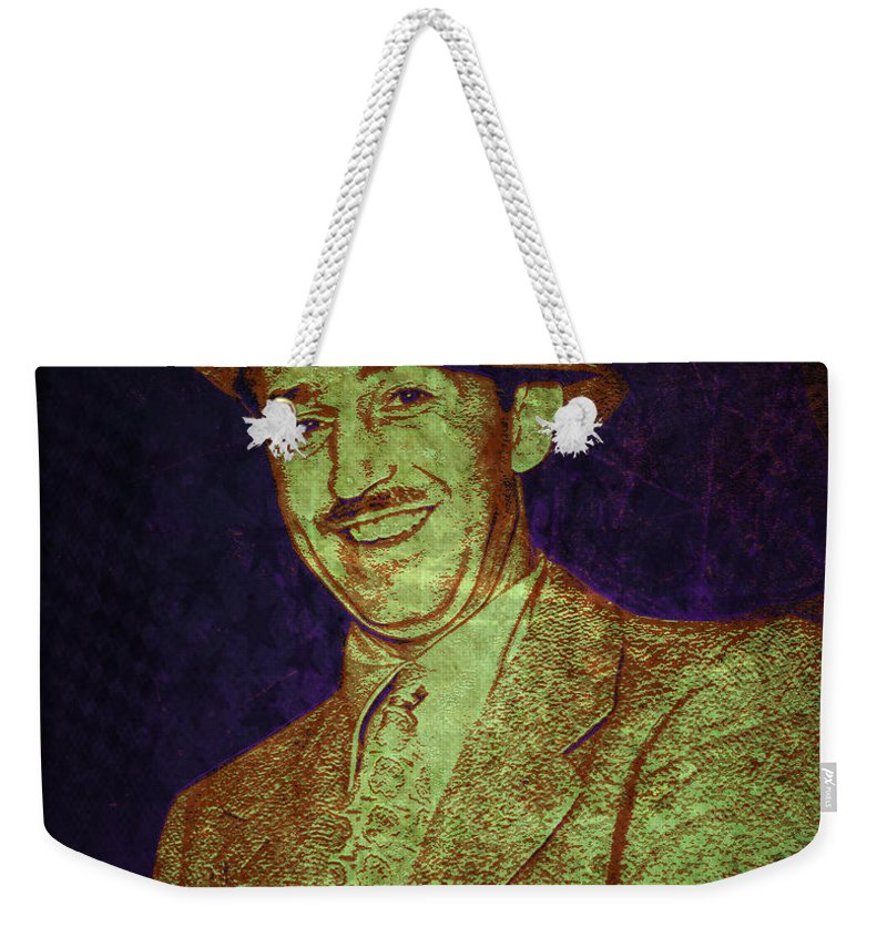 Walt Disney Weekender Tote Bag featuring the digital art Walt Disney by Absinthe Art By Michelle LeAnn Scott