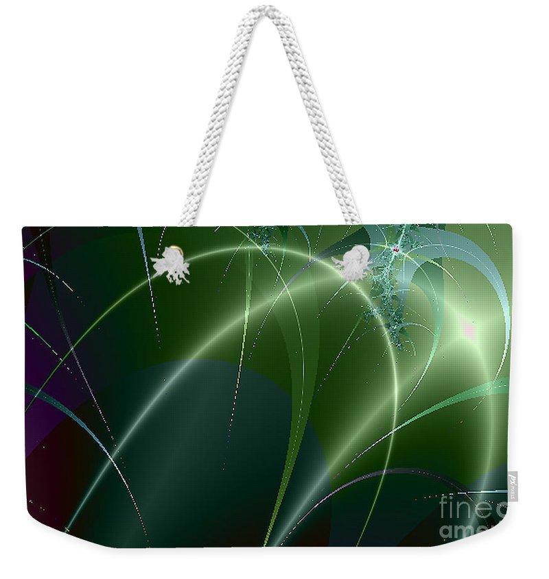 2-dimensional Weekender Tote Bag featuring the digital art War Over by Dana Haynes