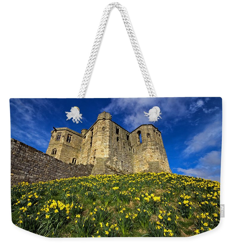 Warkworth Weekender Tote Bag featuring the photograph Warkworth Castle In Spring by David Pringle