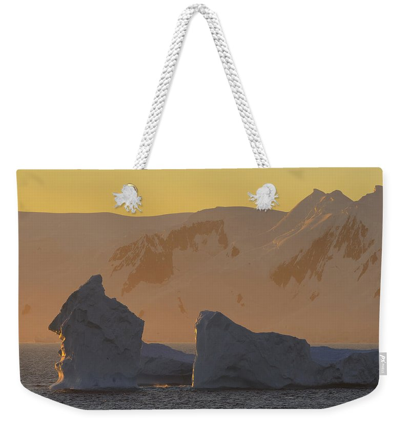 Ice Berg Weekender Tote Bag featuring the photograph Warm Blue by Tony Beck