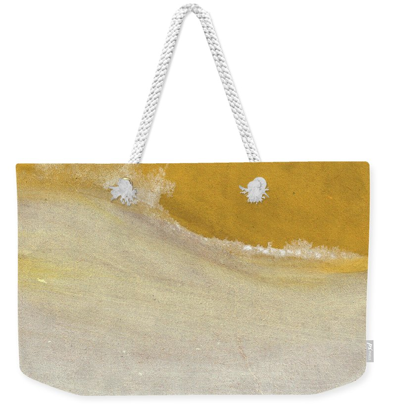 Abstract Weekender Tote Bag featuring the painting Warm Sun by Linda Woods
