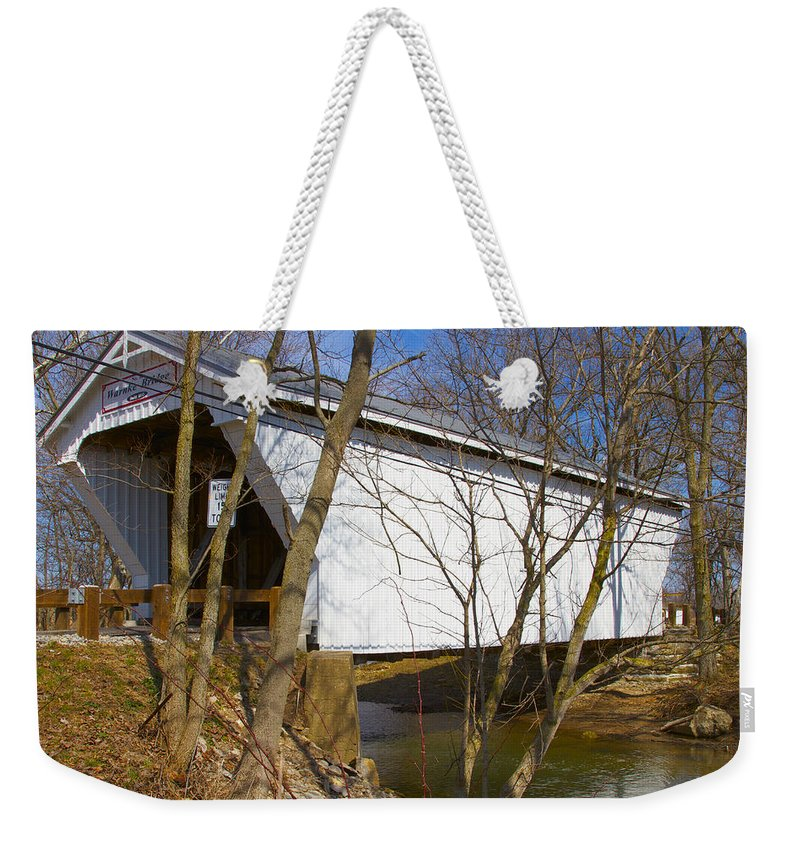 Ohio Weekender Tote Bag featuring the photograph Warnke Covered Bridge by Jack R Perry