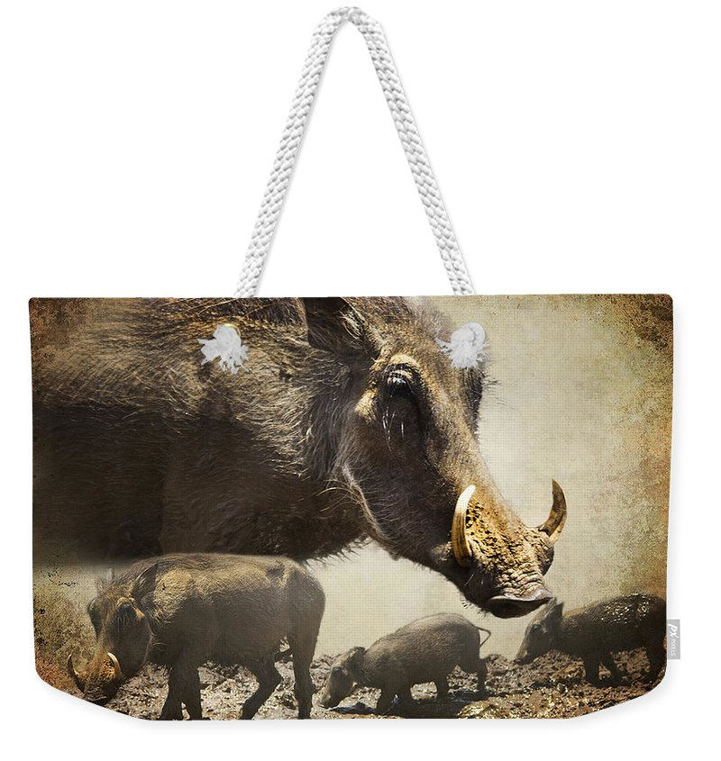 Warthog Weekender Tote Bag featuring the photograph Warthog Profile by Ronel Broderick