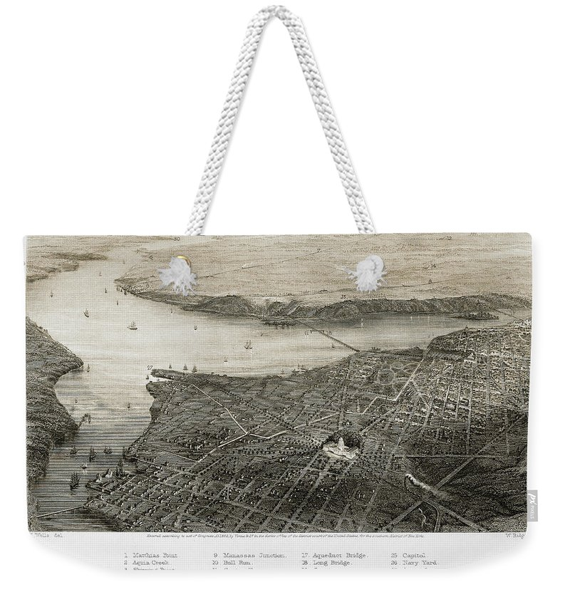 1862 Weekender Tote Bag featuring the photograph Washington, D.c., 1862 by Granger
