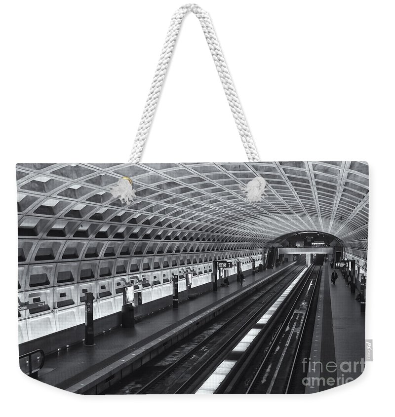 Clarence Holmes Weekender Tote Bag featuring the photograph Washington Dc Metro Station I by Clarence Holmes