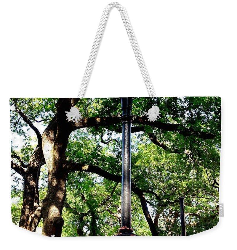Washington Square Weekender Tote Bag featuring the photograph Washington Square by John Duplantis