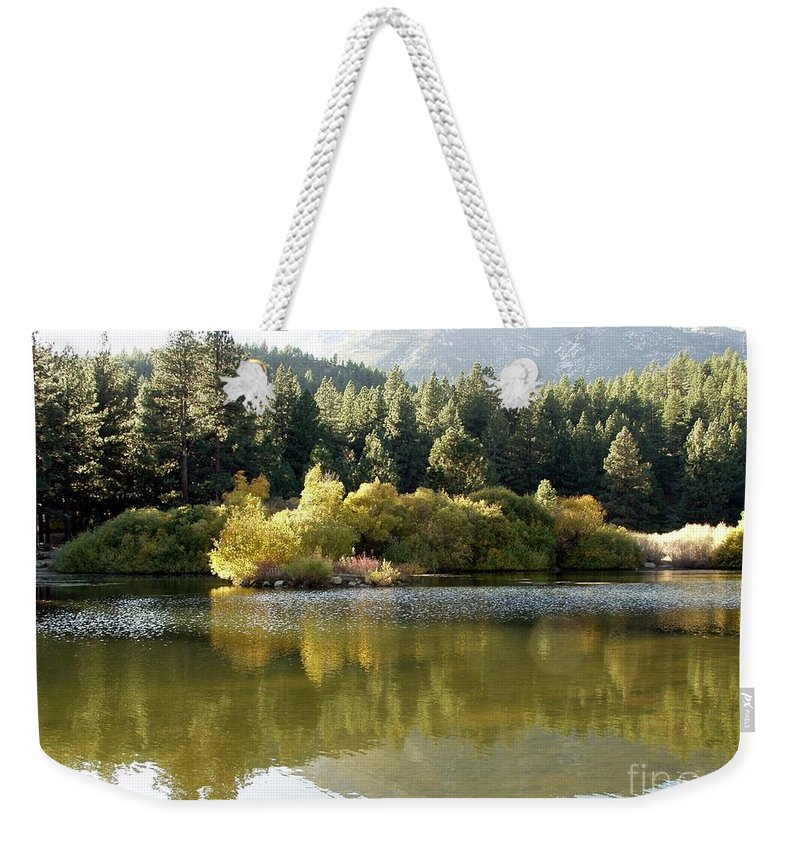 Nature Weekender Tote Bag featuring the photograph Washoe Valley by Carol Sweetwood