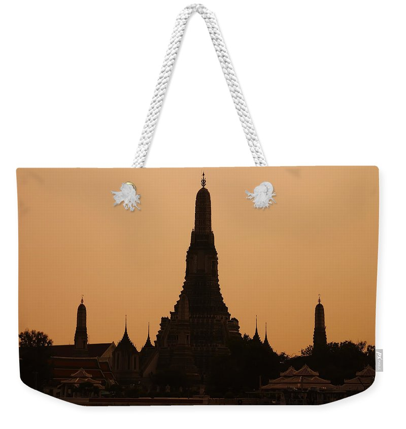3scape Photos Weekender Tote Bag featuring the photograph Wat Arun by Adam Romanowicz