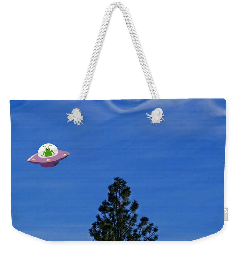 Aliens Weekender Tote Bag featuring the photograph Watch Out For That Tree by Ben Upham III