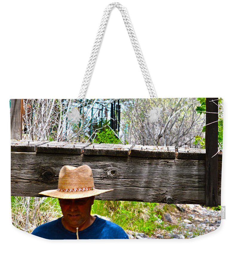 Son Weekender Tote Bag featuring the photograph Watch Your Head by Brent Dolliver