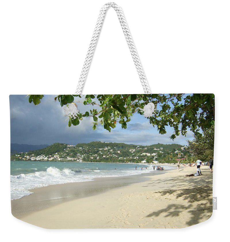 Weekender Tote Bag featuring the photograph Watching The Beach by Katerina Naumenko