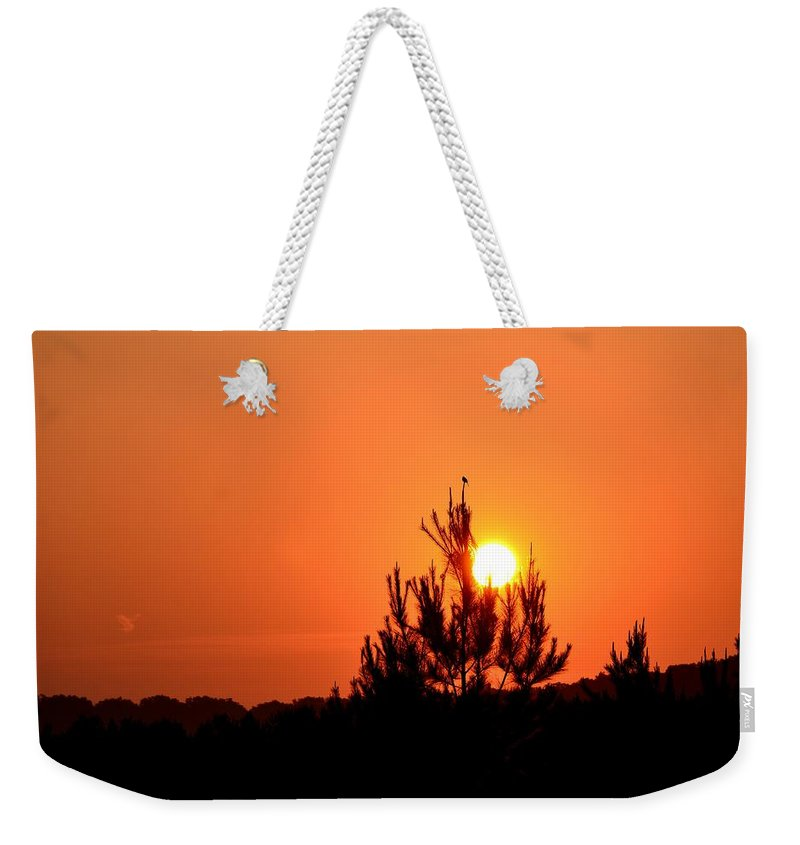 Watching The Sun Rise Weekender Tote Bag featuring the photograph Watching The Sun Rise by Maria Urso