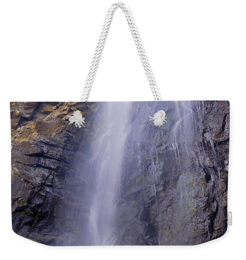 Water Weekender Tote Bag featuring the photograph Watefall At The Mountains by Guido Montanes Castillo