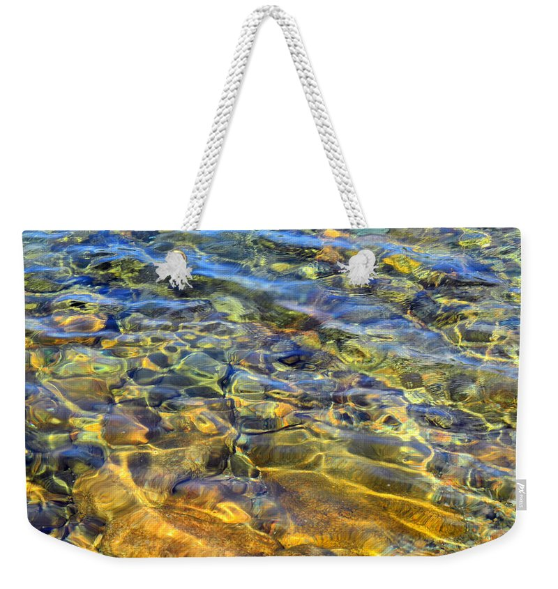 Pond Weekender Tote Bag featuring the photograph Water Abstract by Lynda Lehmann