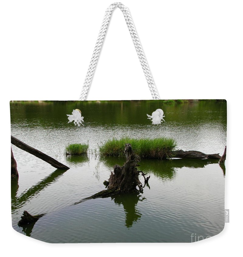 Art For The Wall...patzer Photography Weekender Tote Bag featuring the photograph Water Art by Greg Patzer