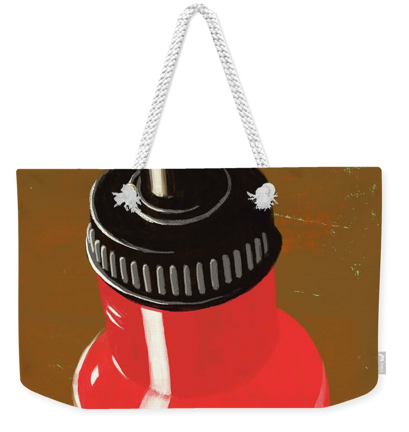 Purity Weekender Tote Bag featuring the digital art Water Bottle Illustration by Don Bishop
