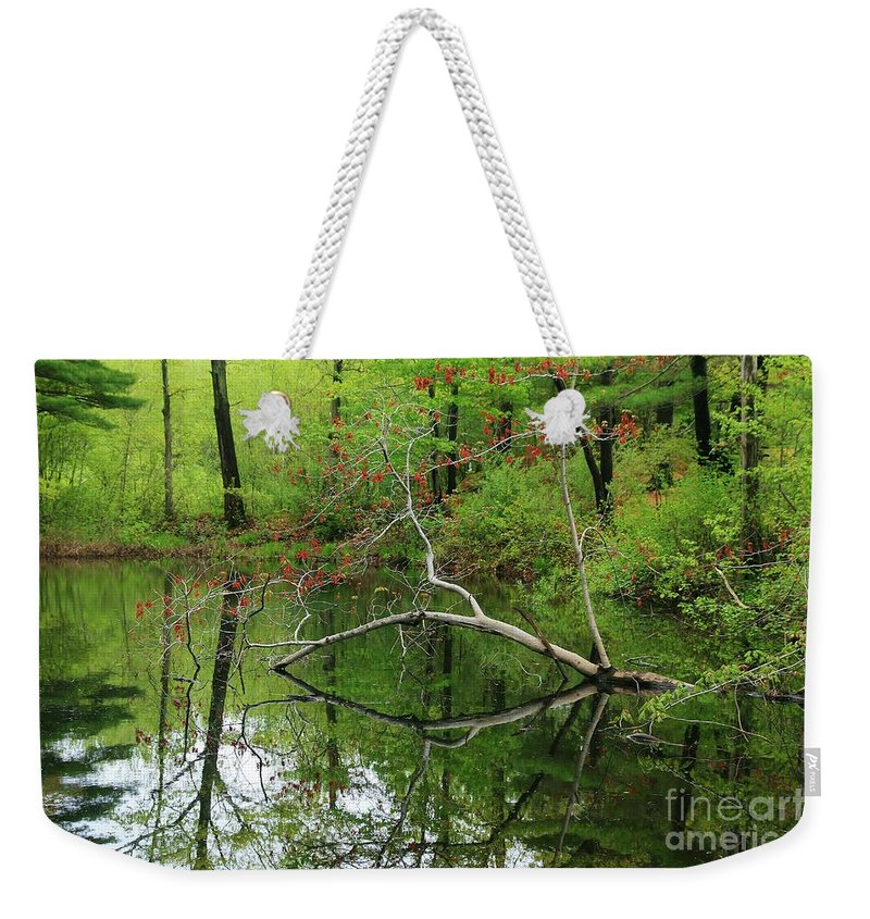 Reflection Weekender Tote Bag featuring the photograph Water Bridge by Neal Eslinger