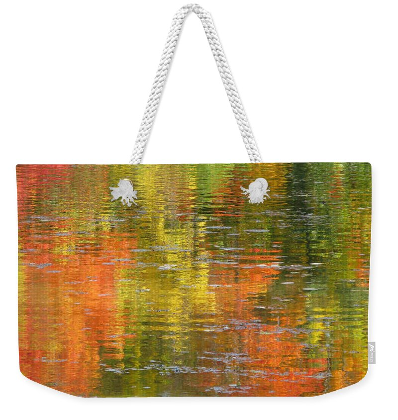 Autumn Weekender Tote Bag featuring the photograph Water Colors by Ann Horn