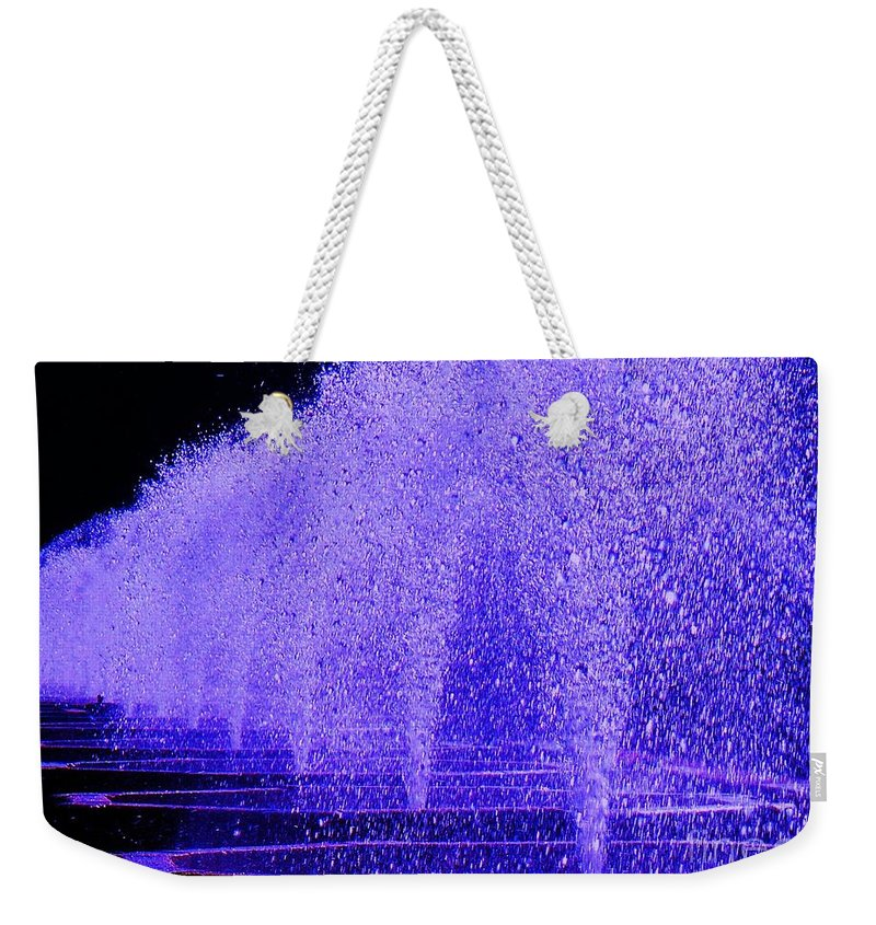 Fountain Weekender Tote Bag featuring the photograph Water Fountain by Eric Schiabor