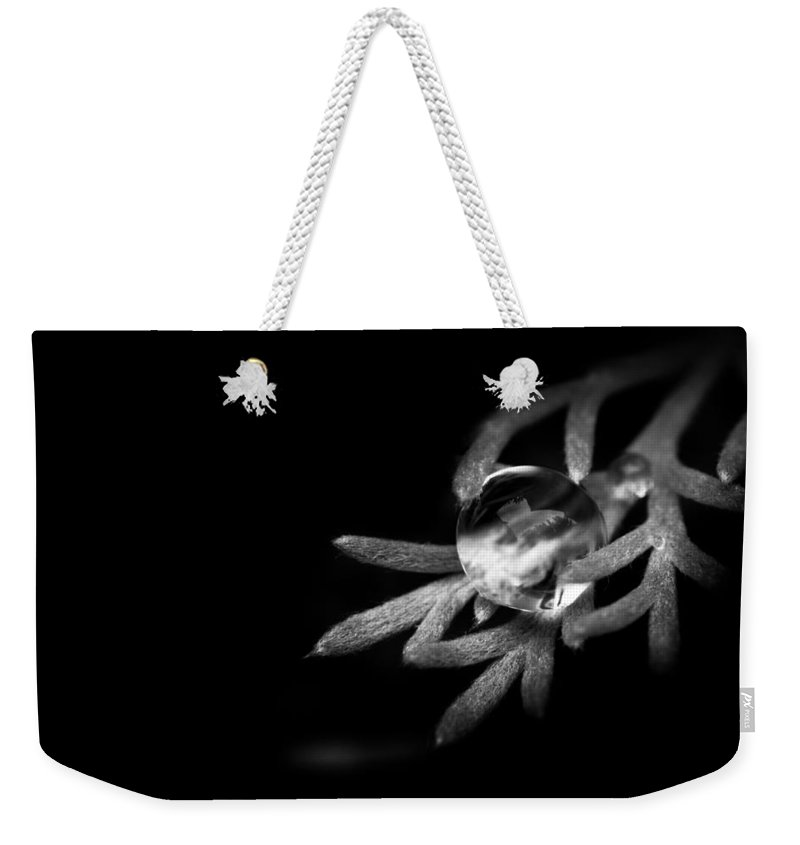 Black And White Weekender Tote Bag featuring the photograph Water Is Life by Shane Holsclaw