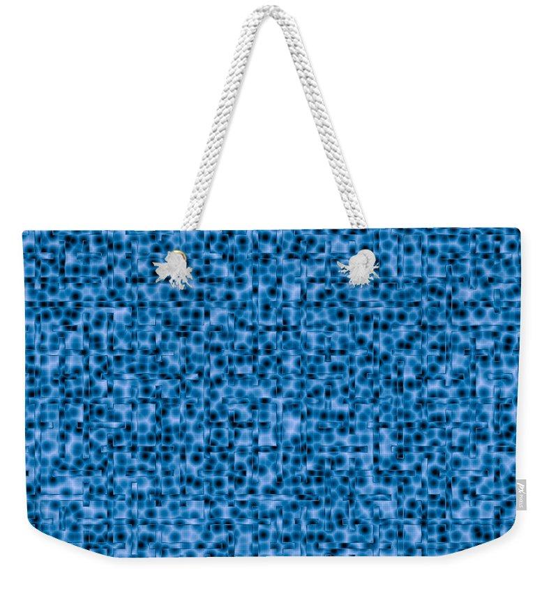 Artmatic Weekender Tote Bag featuring the digital art Water Labyrinth by Hakon Soreide