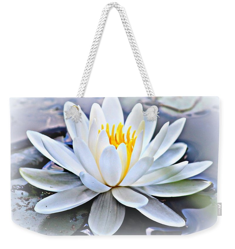 Water Lily Weekender Tote Bag featuring the photograph Water Lily by Beth Vincent