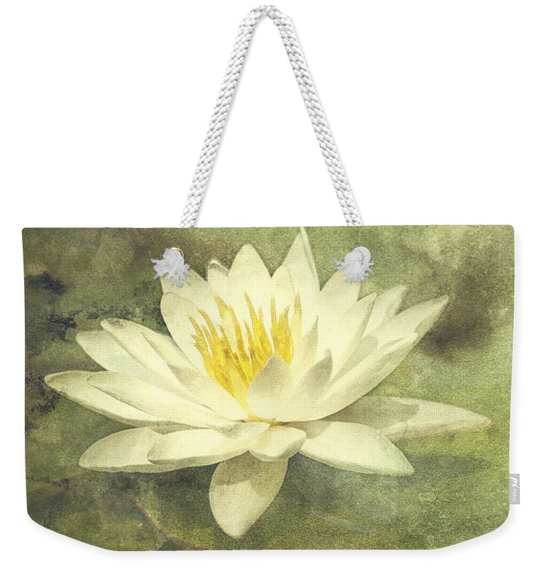 Water Lily Weekender Tote Bag featuring the photograph Water Lily by Scott Norris