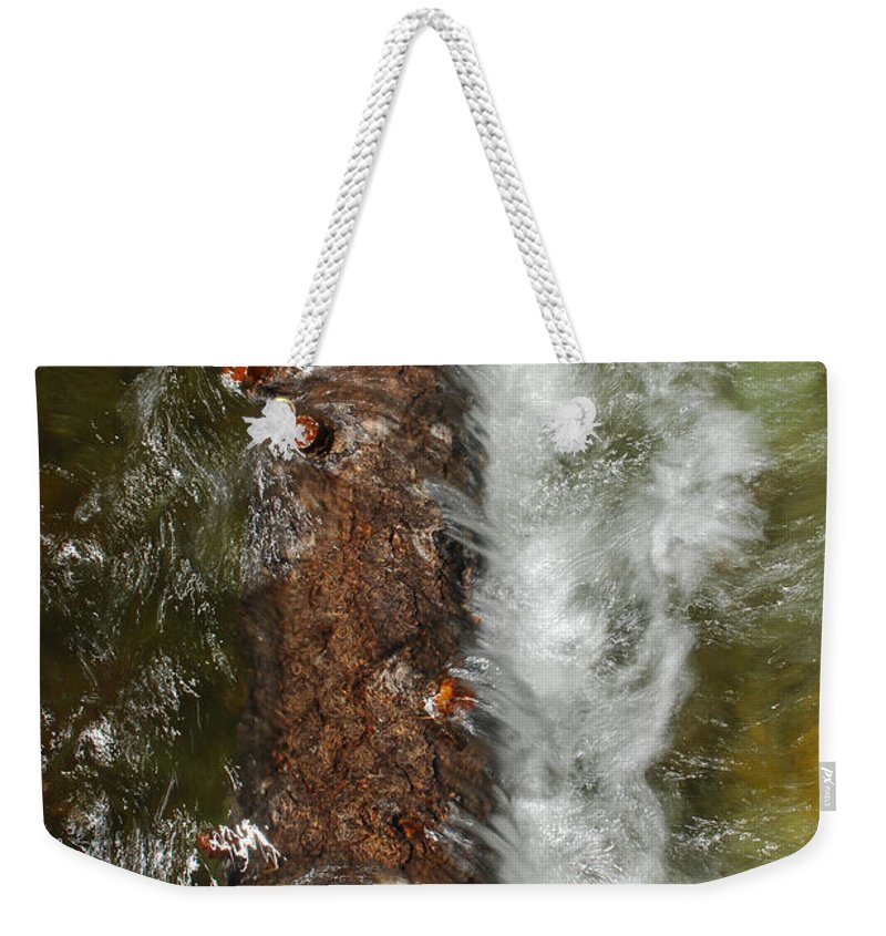 Water Weekender Tote Bag featuring the photograph Water Logged by Donna Blackhall