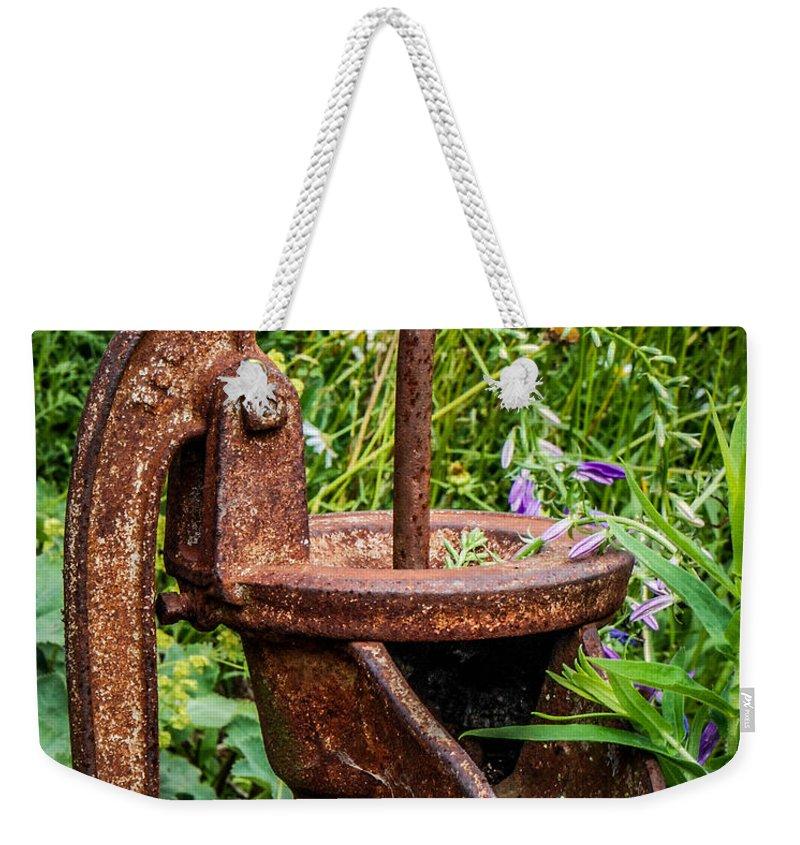 Pump Weekender Tote Bag featuring the photograph Water Pump by Grace Grogan