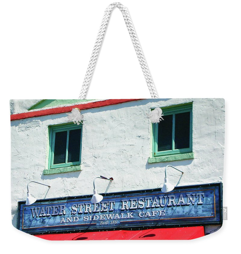 Water Street Weekender Tote Bag featuring the photograph Water Street 0772 by Guy Whiteley