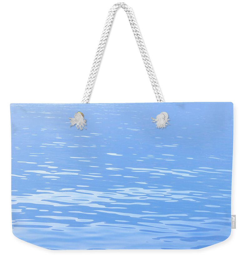 Standing Water Weekender Tote Bag featuring the photograph Water Surface Background by Mmac72