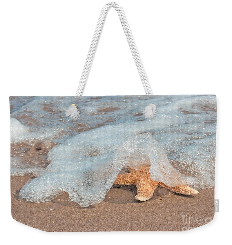 Beach Weekender Tote Bag featuring the photograph Water Veil by Barbara McMahon