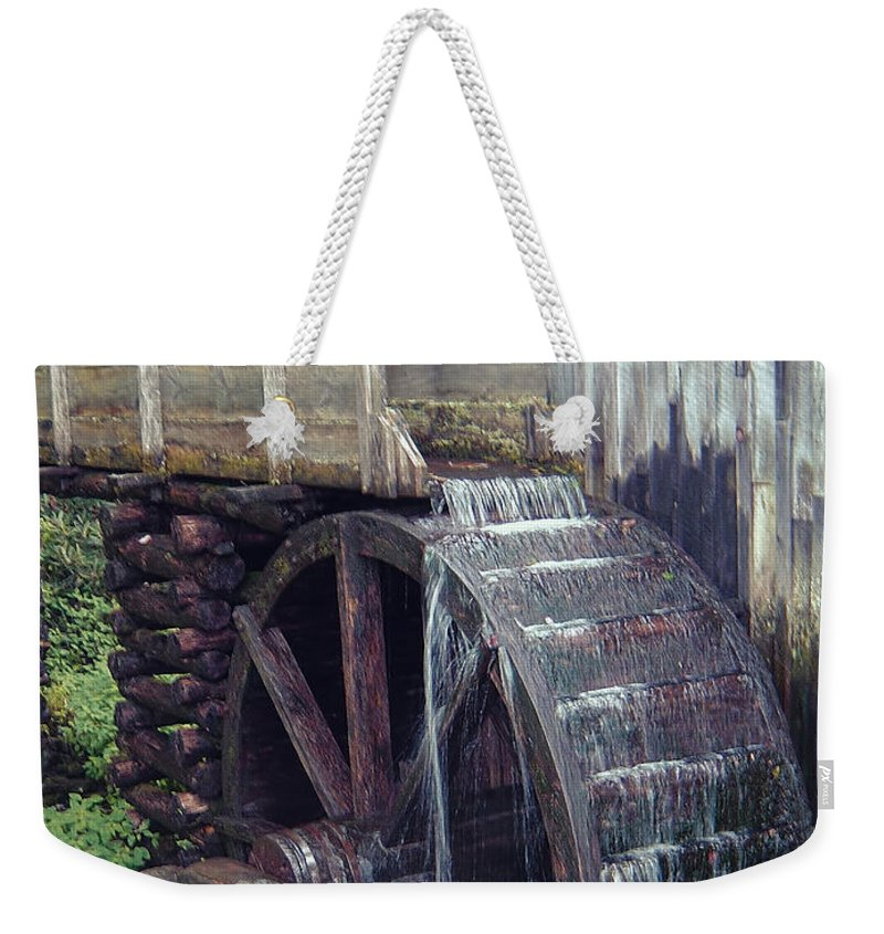 Waterwheel Weekender Tote Bag featuring the photograph Water Wheel by Phyllis Taylor