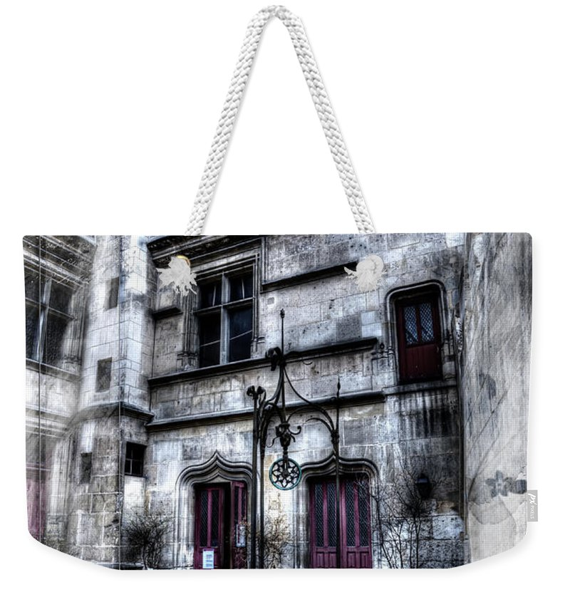Paris France Weekender Tote Bag featuring the photograph Watercolor Cluny In Paris by Evie Carrier