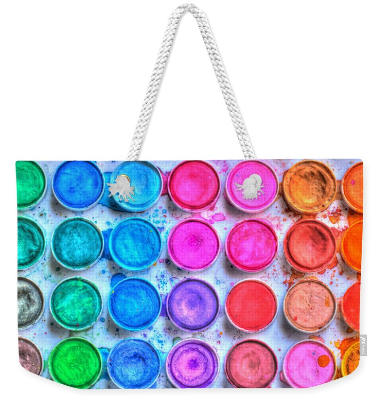 Paint Weekender Tote Bag featuring the photograph Watercolor by Heidi Smith
