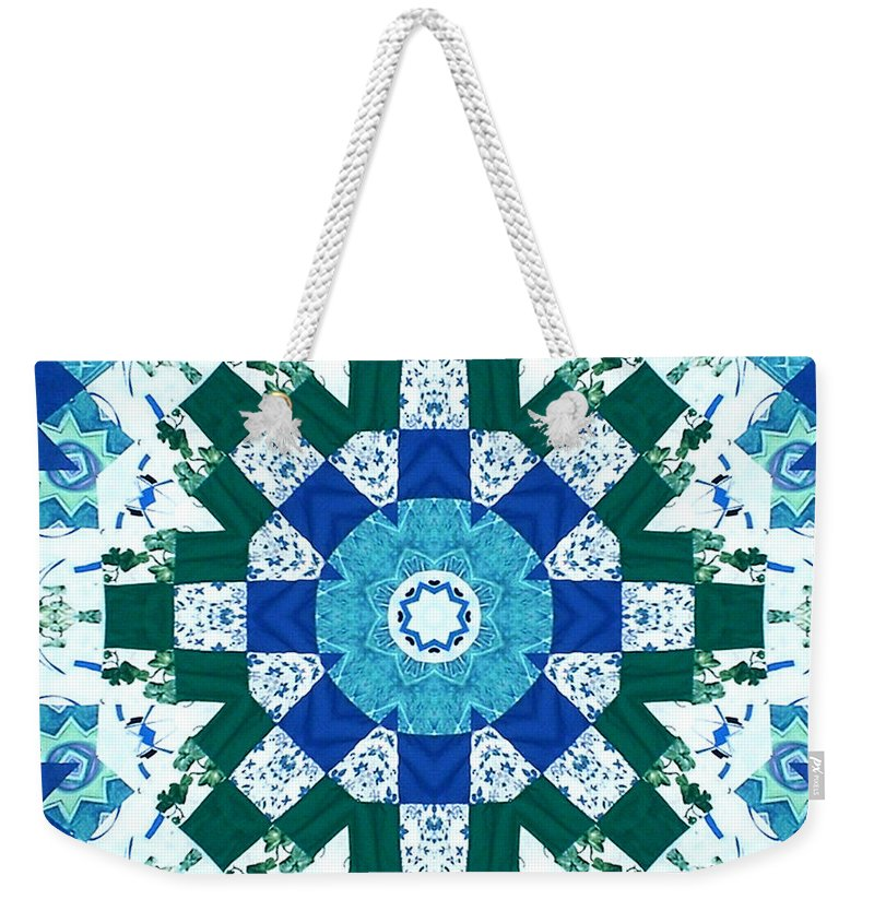Quilts Weekender Tote Bag featuring the tapestry - textile Watercolor Quilt by Barbara Griffin