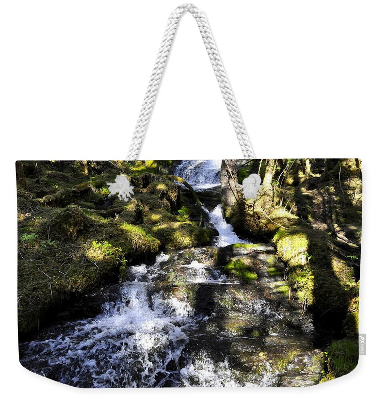 Water Weekender Tote Bag featuring the photograph Waterfall by Cathy Mahnke