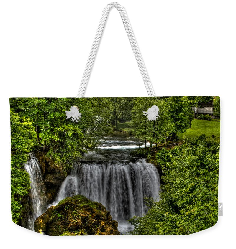 Landscape Weekender Tote Bag featuring the photograph Waterfall by Josip Horvat