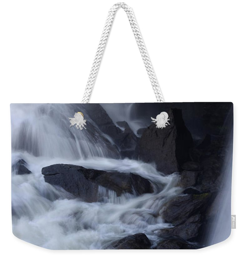 Alvinge Weekender Tote Bag featuring the photograph Waterfall Motion by Dreamland Media
